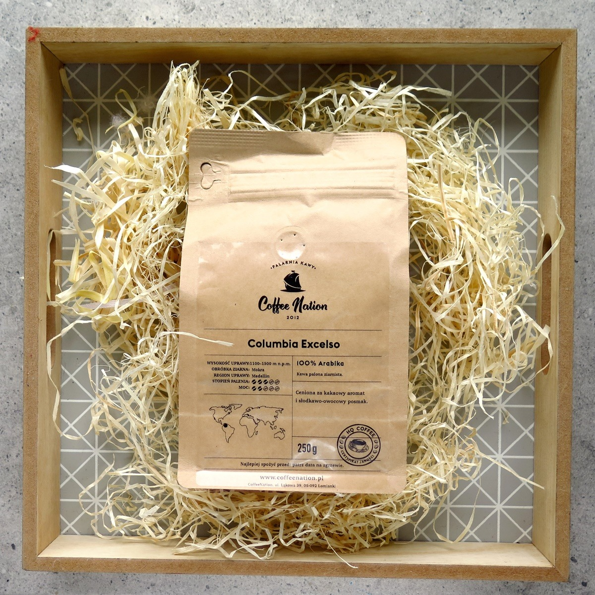 kawa arabica columbia excelso coffee nation