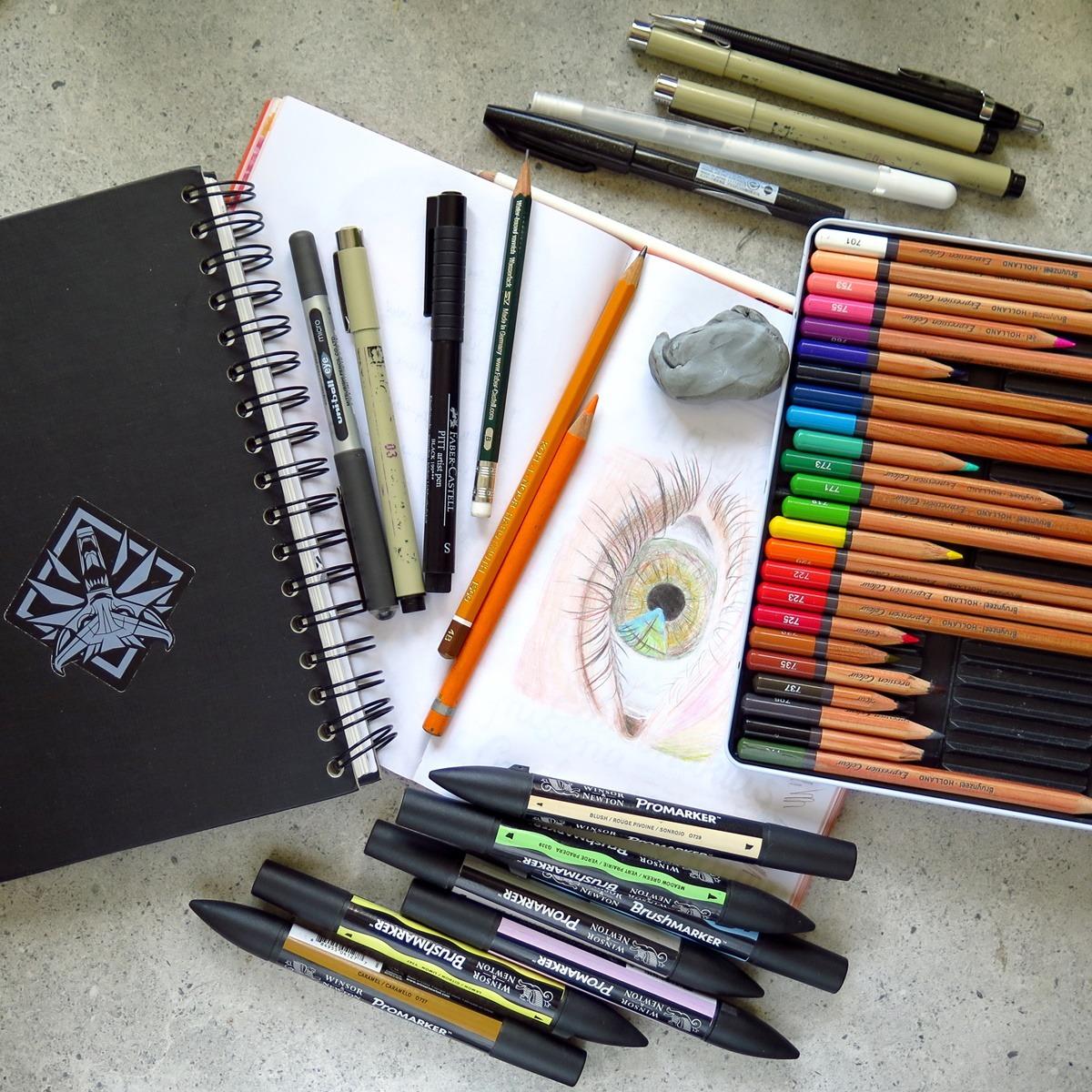 przybory do rysowania poradnik dla początkujących co kupić kredki, markery, szkicownik, ołówki