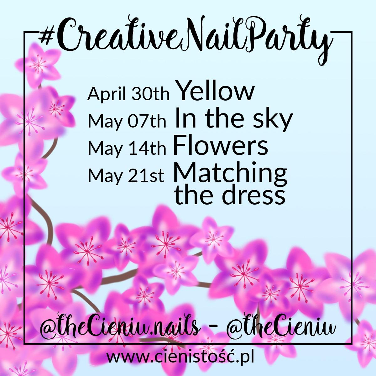 Wyzwanie #creativenailparty na wiosnę - kreatywne zdobienia paznokci, tematy