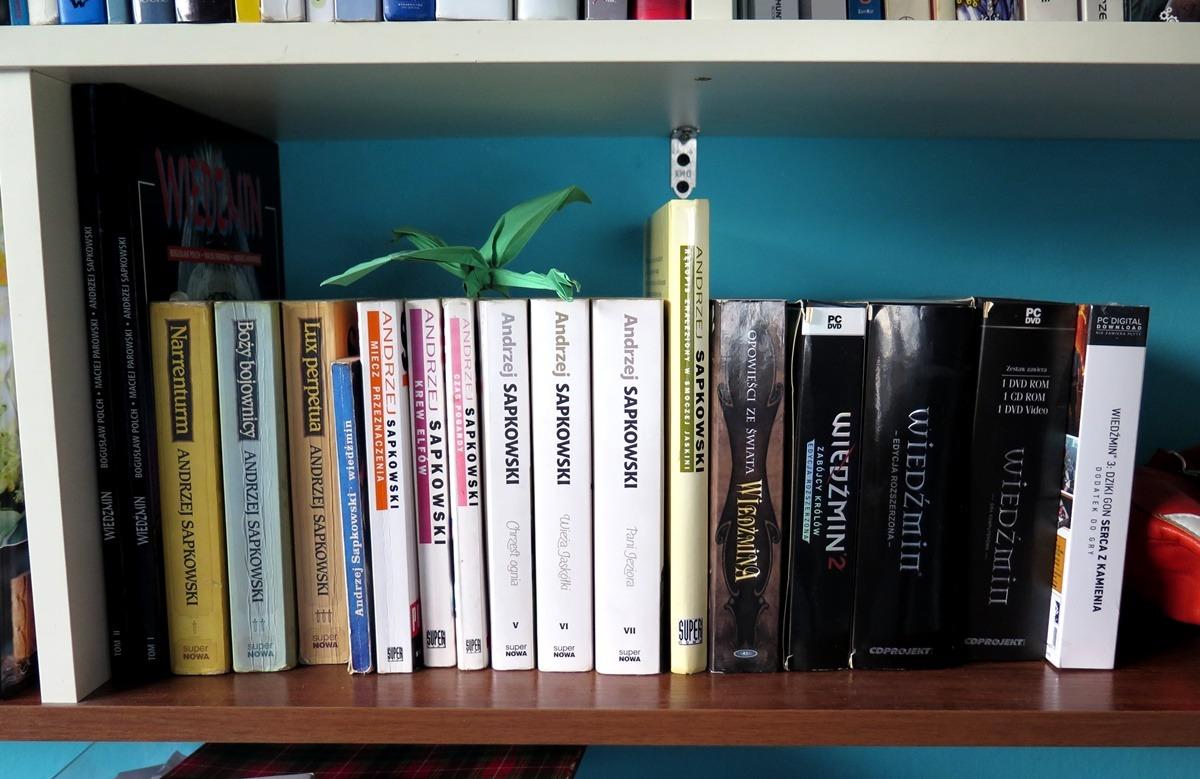 Półka na książki Sapkowski Wiedźmin kolekcja