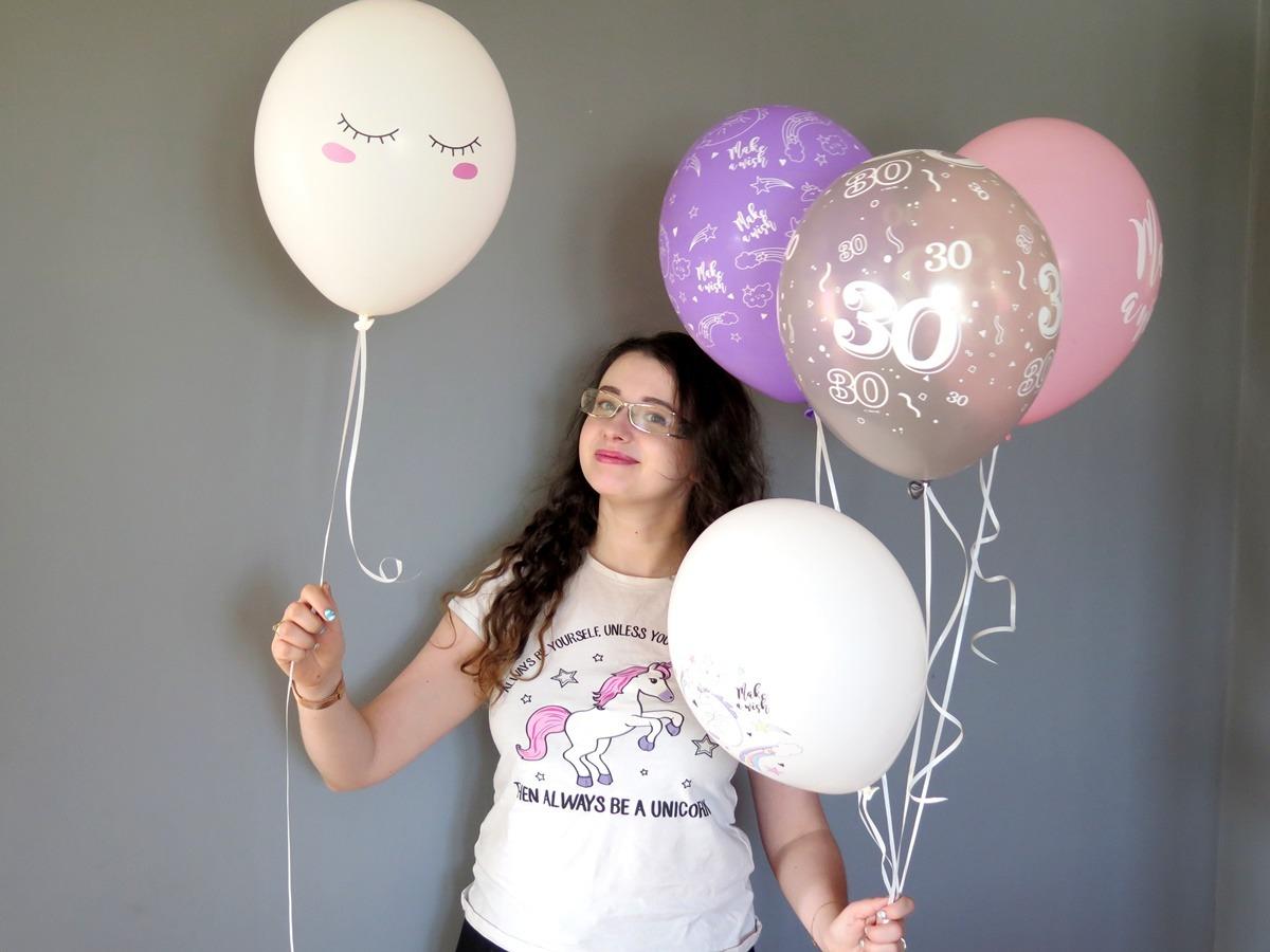 balony z helem na urodziny jednorożec