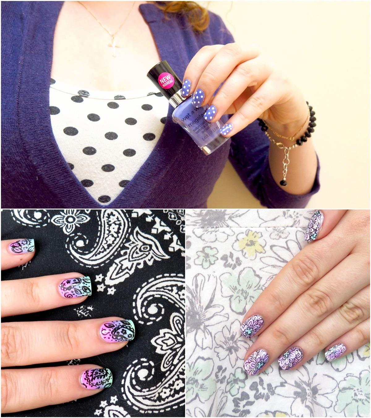 zdobienia paznokci pasujące do ubrania stroju stylizacji