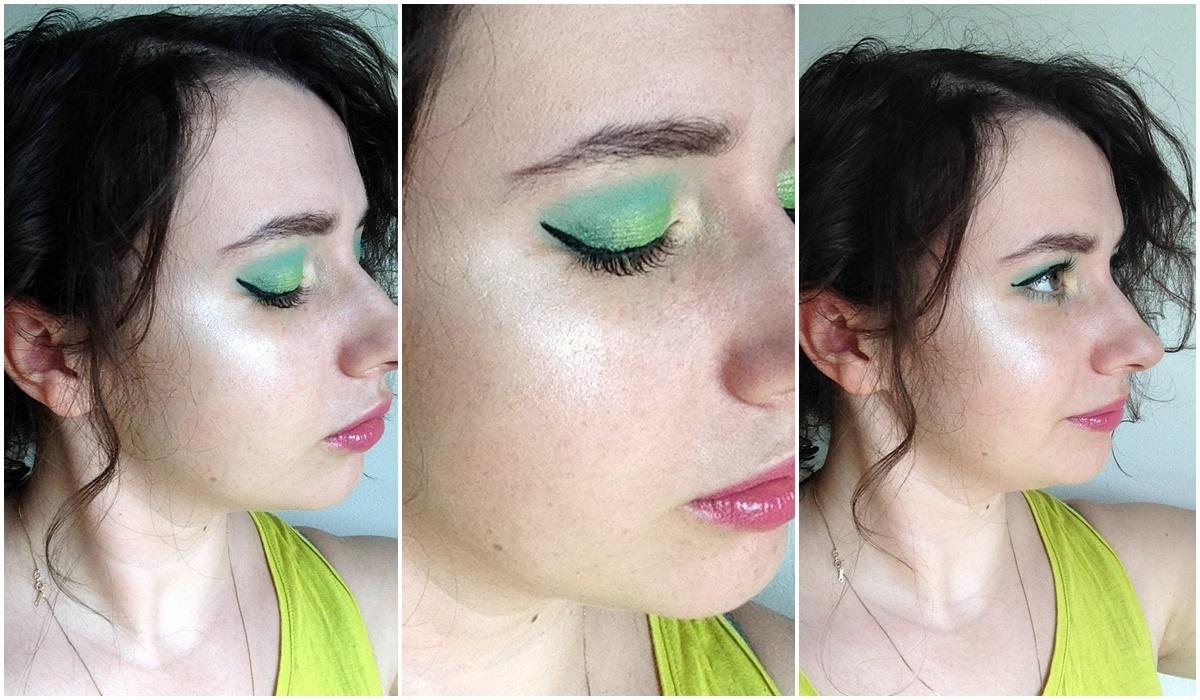 tęczowy rozświetlacz lovely rainbow highlighter makijaż na lato kolorowy