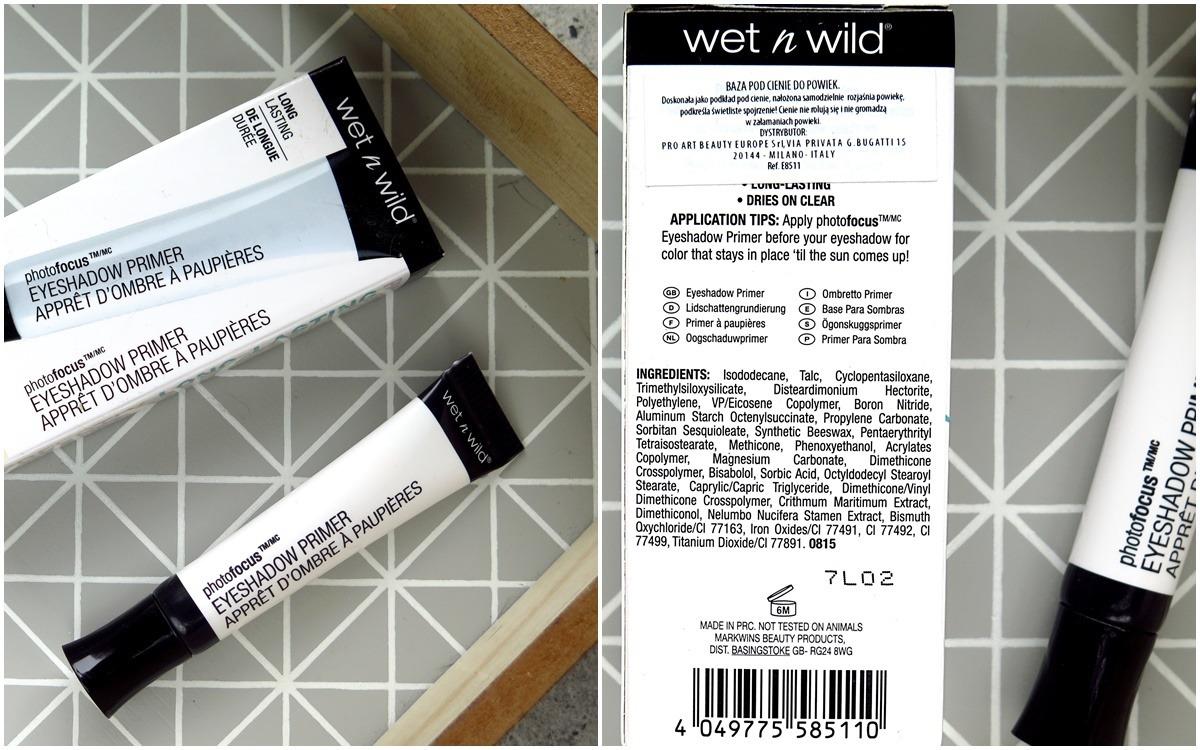 """Baza pod cienie Wet'n'wild """"Only a Matter of Prime""""  skład inci składniki opakowanie opinie blog"""