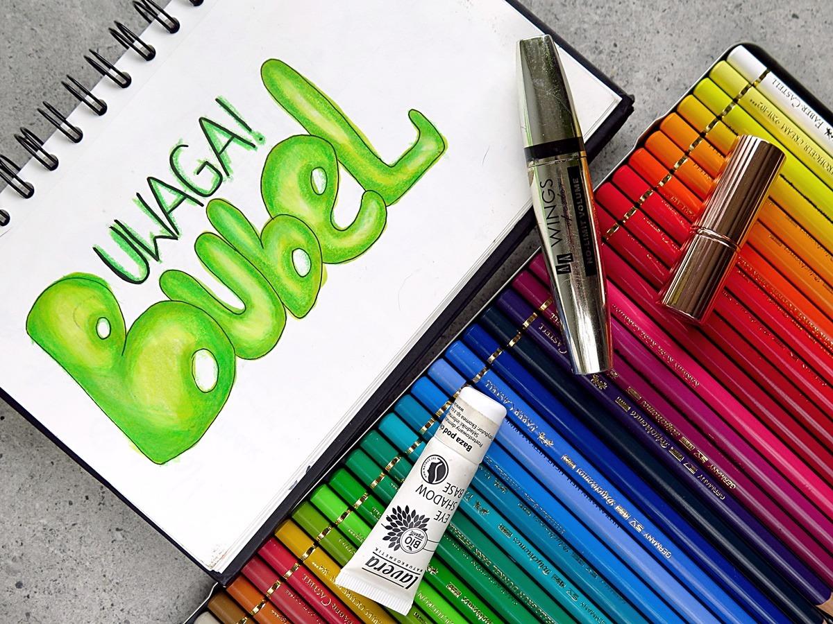 kosmetyczne rozczarowania buble szkicownik hand lettering kredki polychromos