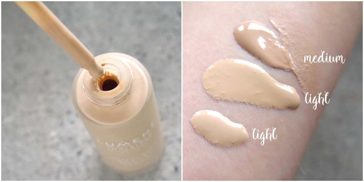 serum lumene instant illumination glow odcień kolor swatch light i medium porównanie