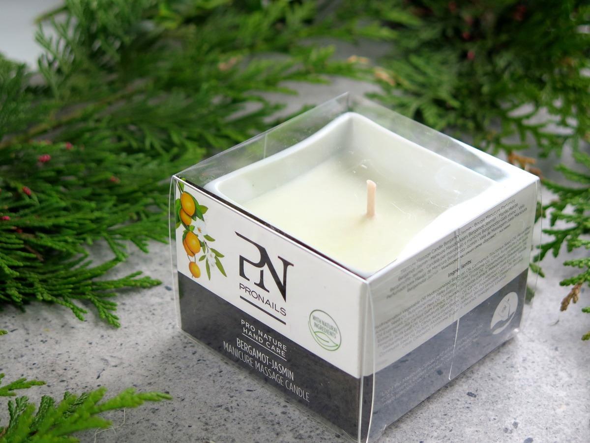 pronails świeca do pielęgnacji ciała skóry masażu