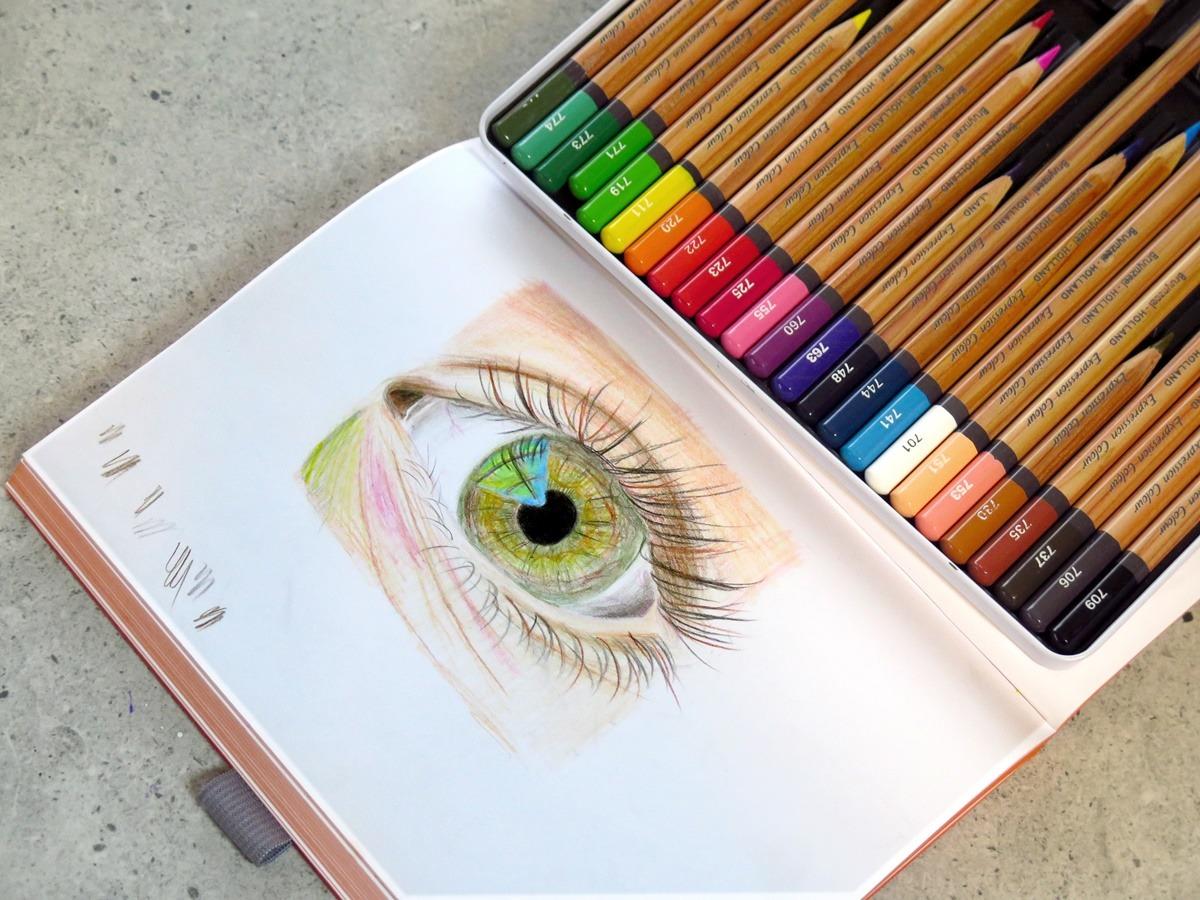 kredki dla początkujących jak rysować oko człowieka porady