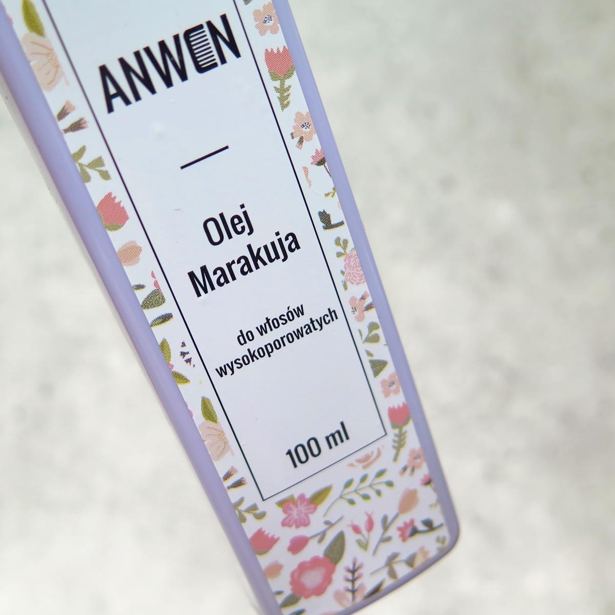 ANWEN olej marakuja do włosów wysokoporowatych