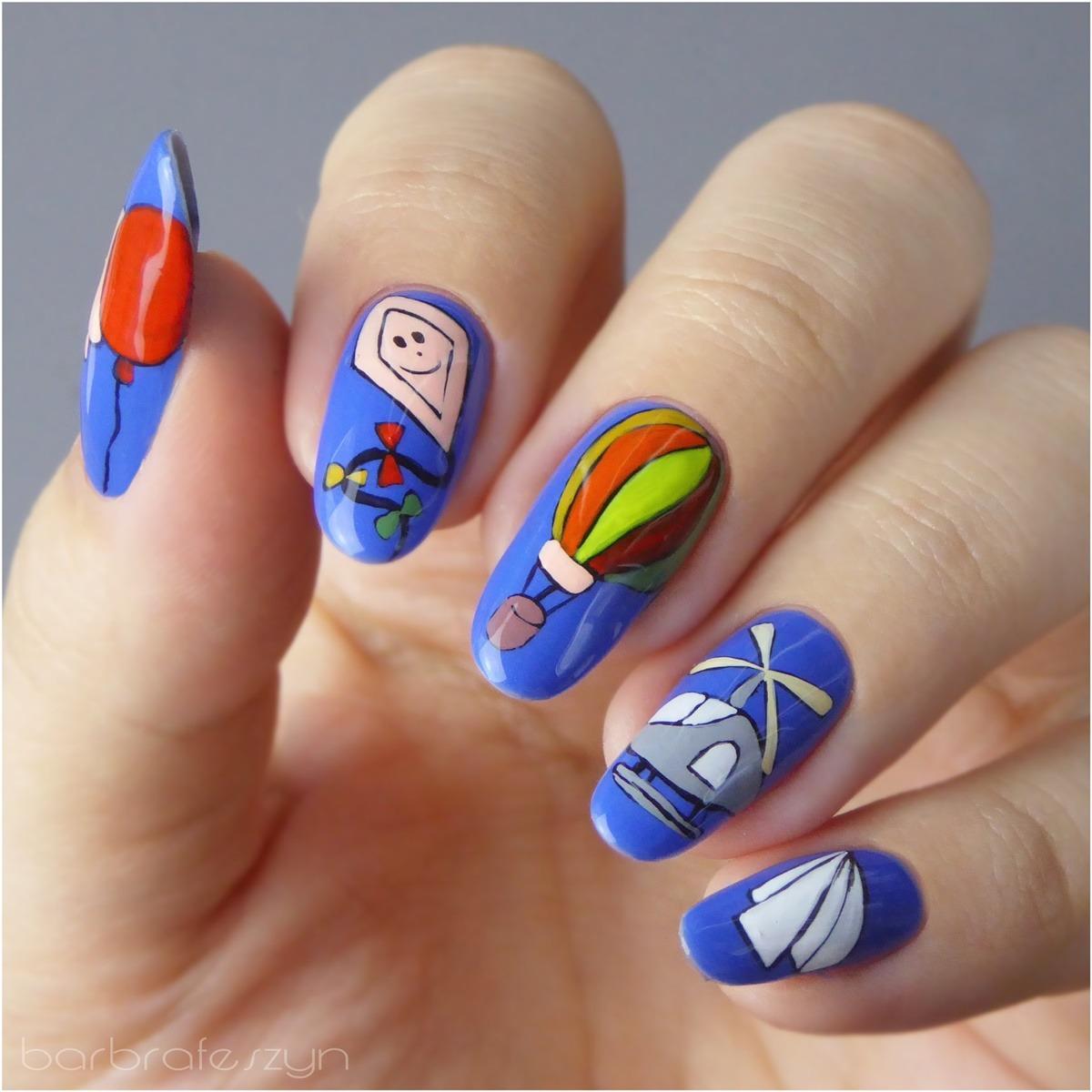 barbrafeszyn zdobienie paznokci icon nails wzory ręcznie malowane