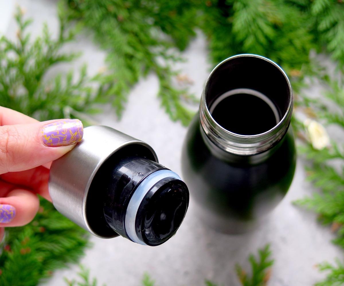 termiczna butelka wielokrotnego użytku metalowa ragsy stal nierdzewna zero waste zakrętka szczelny kubek nie cieknie