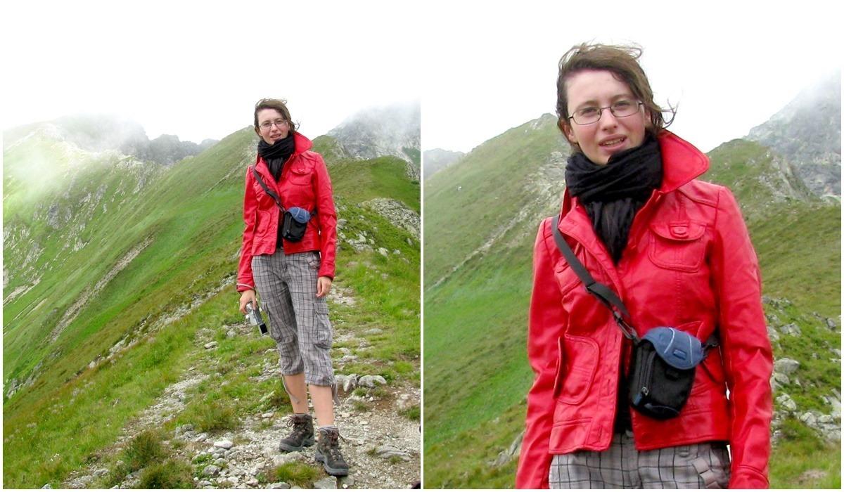 czerwona kurtka ze skóry ekologicznej strój stylizacja outfit