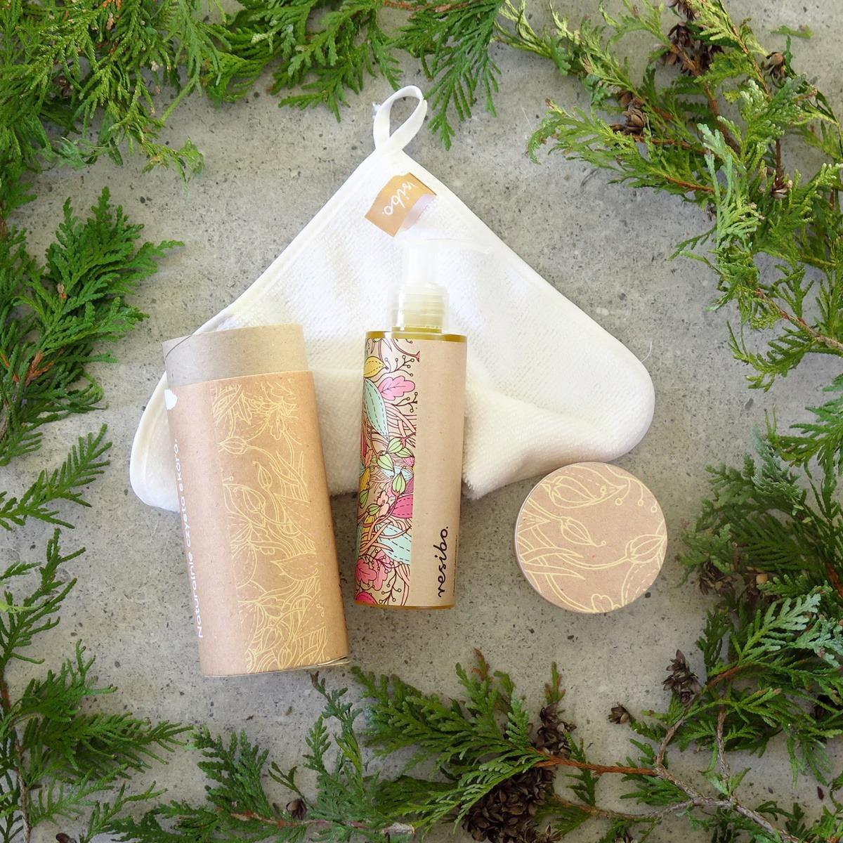 resibo olejek do demakijazu olejowe oczyszczanie twarzy ściereczka z mikrofibry