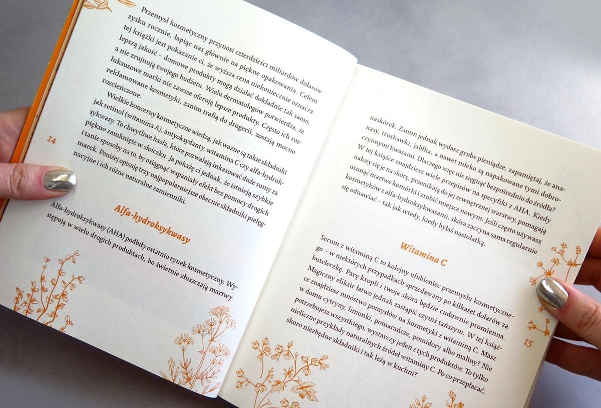 książka o pielęgnacji twarzy przepisy na kosmetyki kwasy witamina c