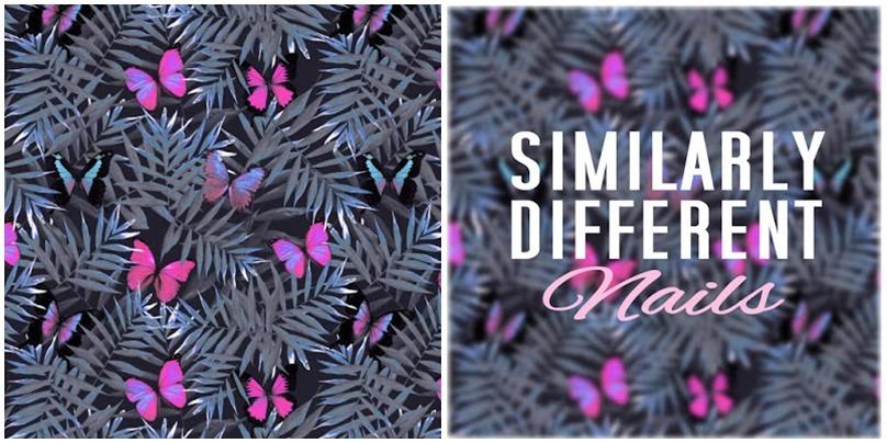 grafika w motyle tło tapeta na telefon ciemne czarne tropikalne liście