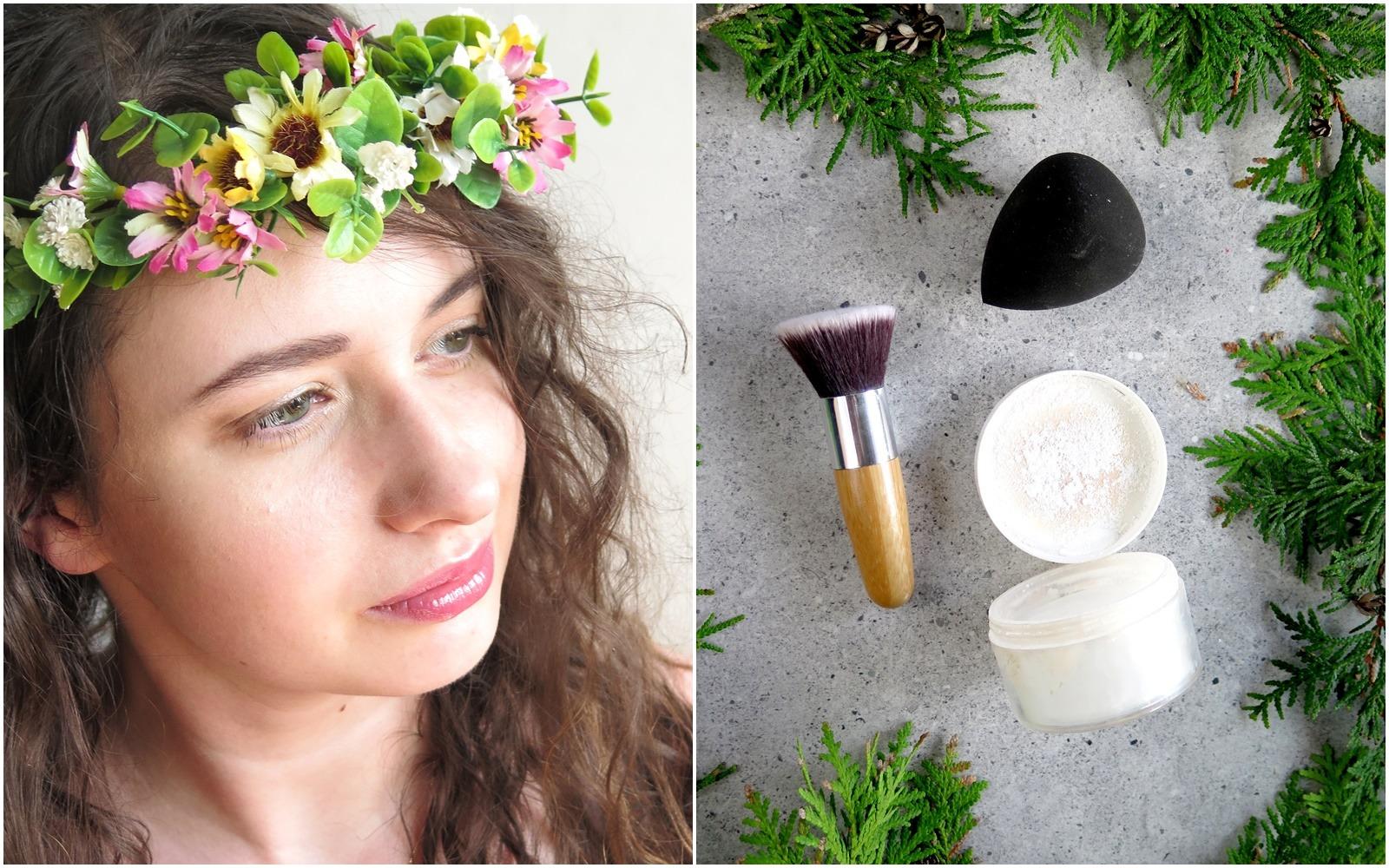 makijaż kosmetykami mineralnymi puder glinkowy primer mineralny podkład