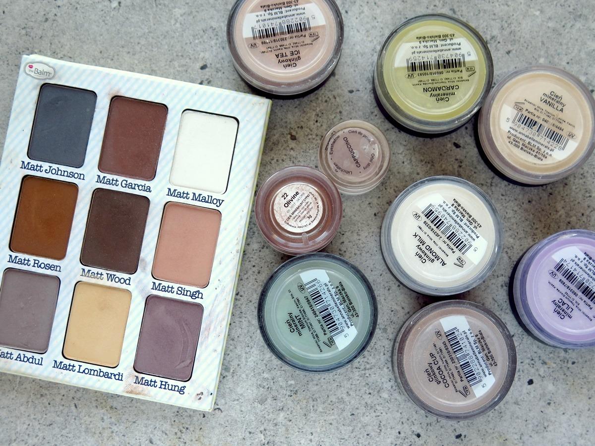 "Paleta cieni theBalm ""Meet Matt(e) Nude"" oraz mineralne cienie do powiek Annabelle Minerals różne kolory"