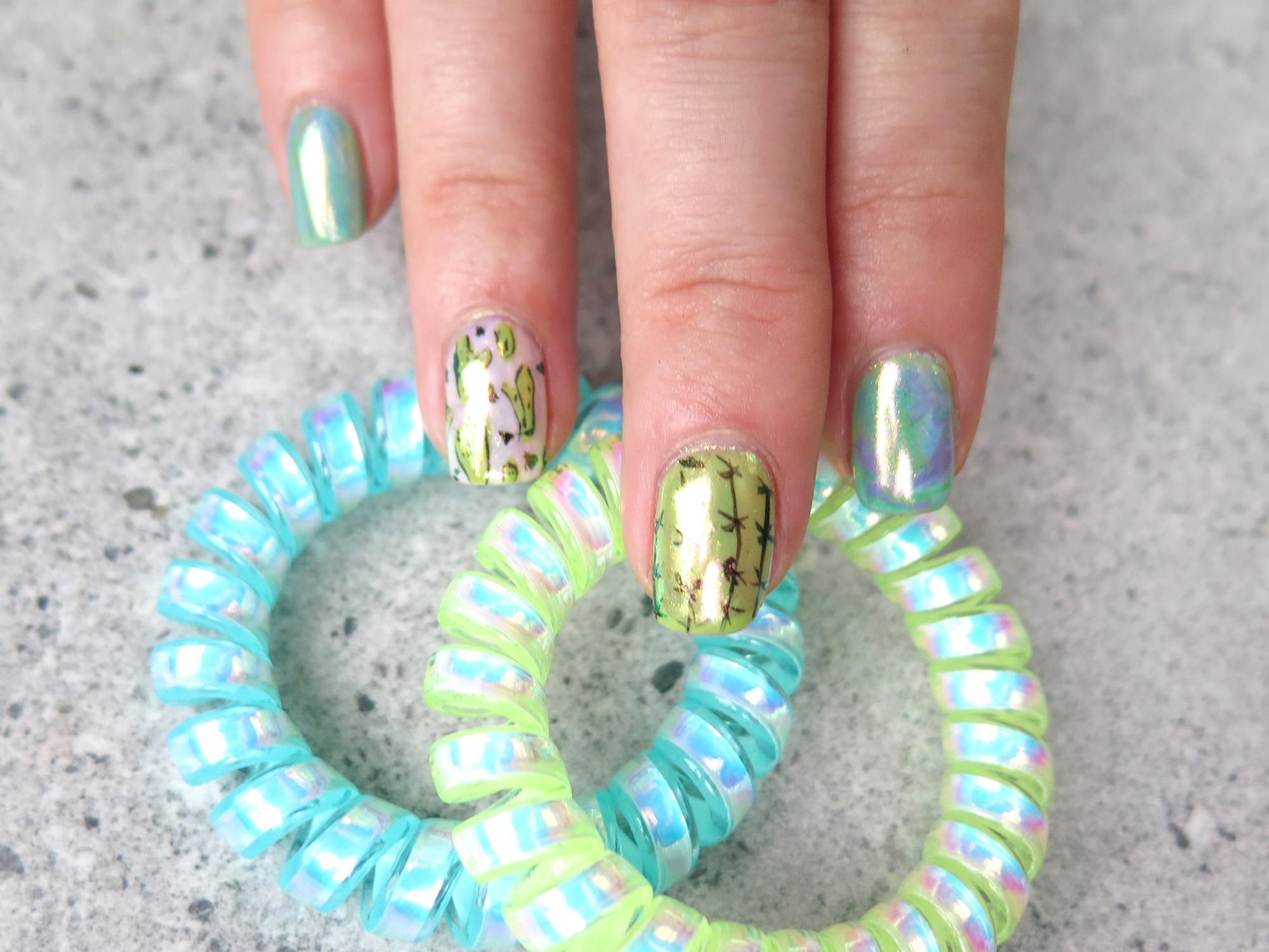 paznokcie hybrydy pyłek crystal mirror