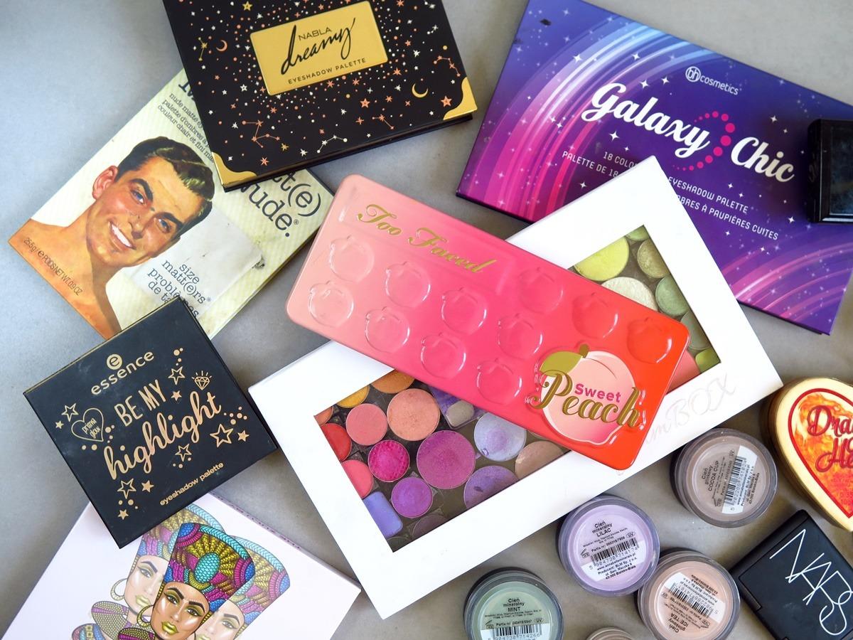 kolekcja cieni do powiek blogerka urodowa makijaż palety cieni