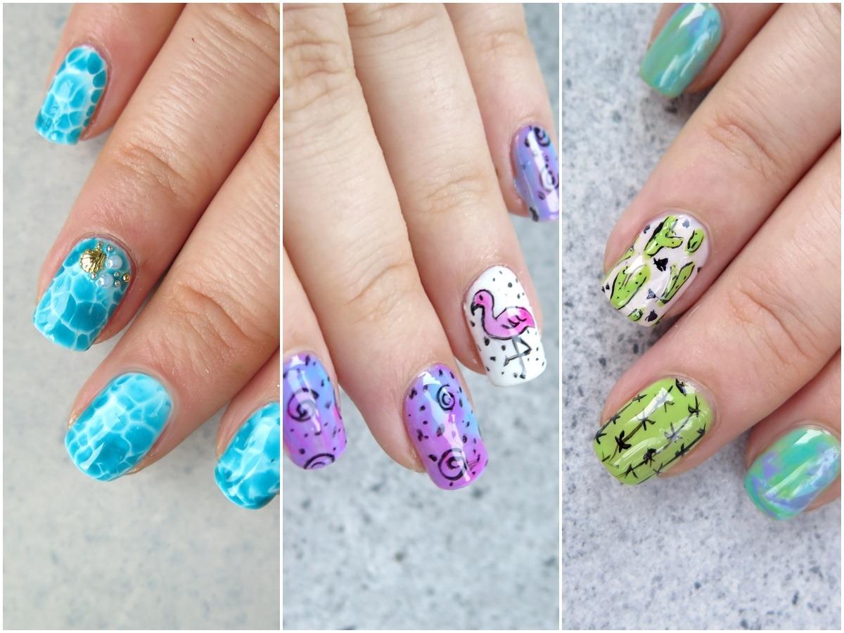 pomysły na zdobienia paznokci na lato wzory na wakacje