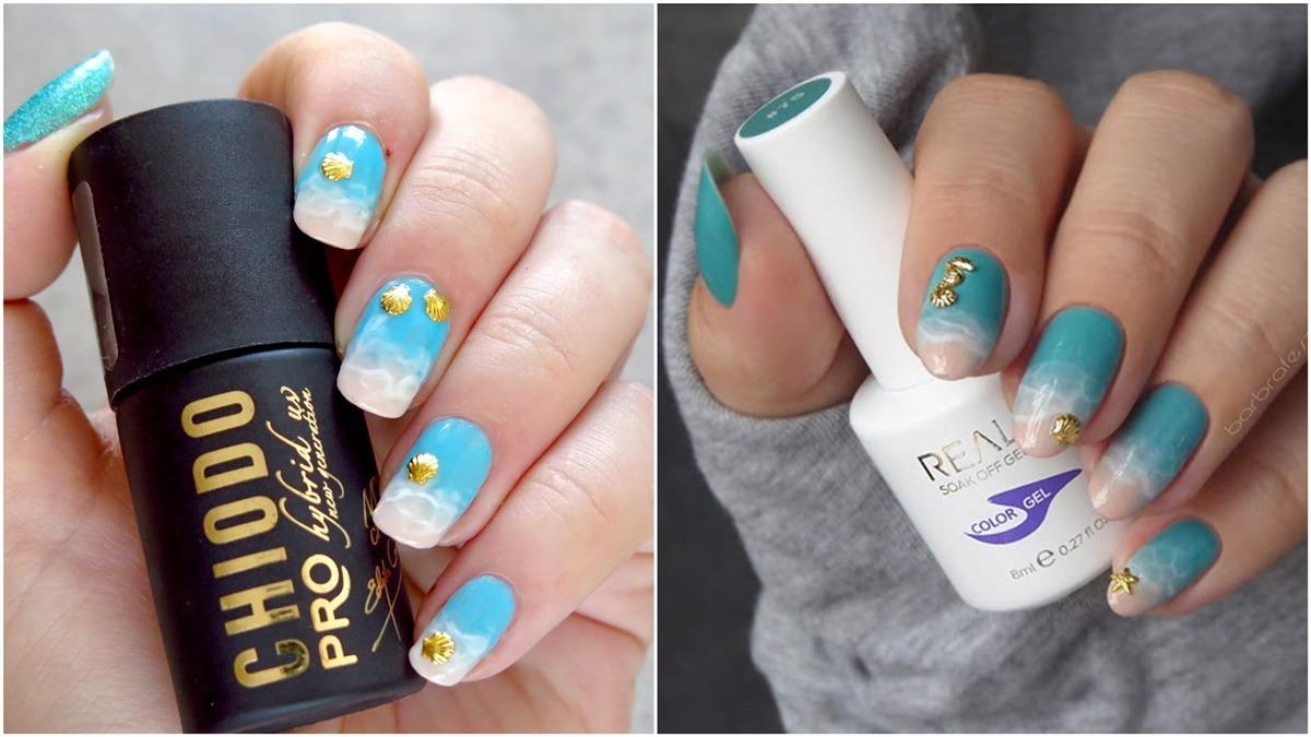 morskie zdobienie paznokci inspiracja