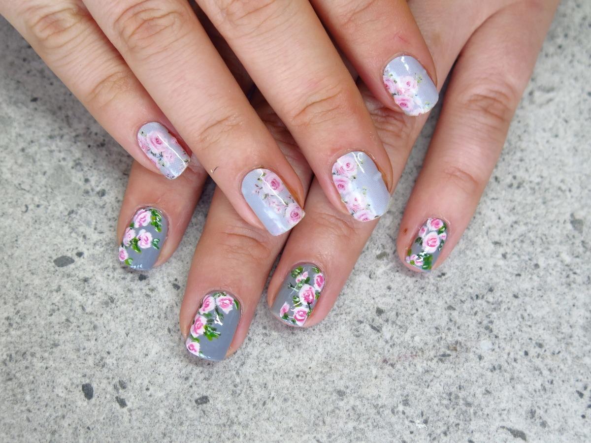 naklejki termiczne na paznokcie manirouge basia blog roses róże vintage