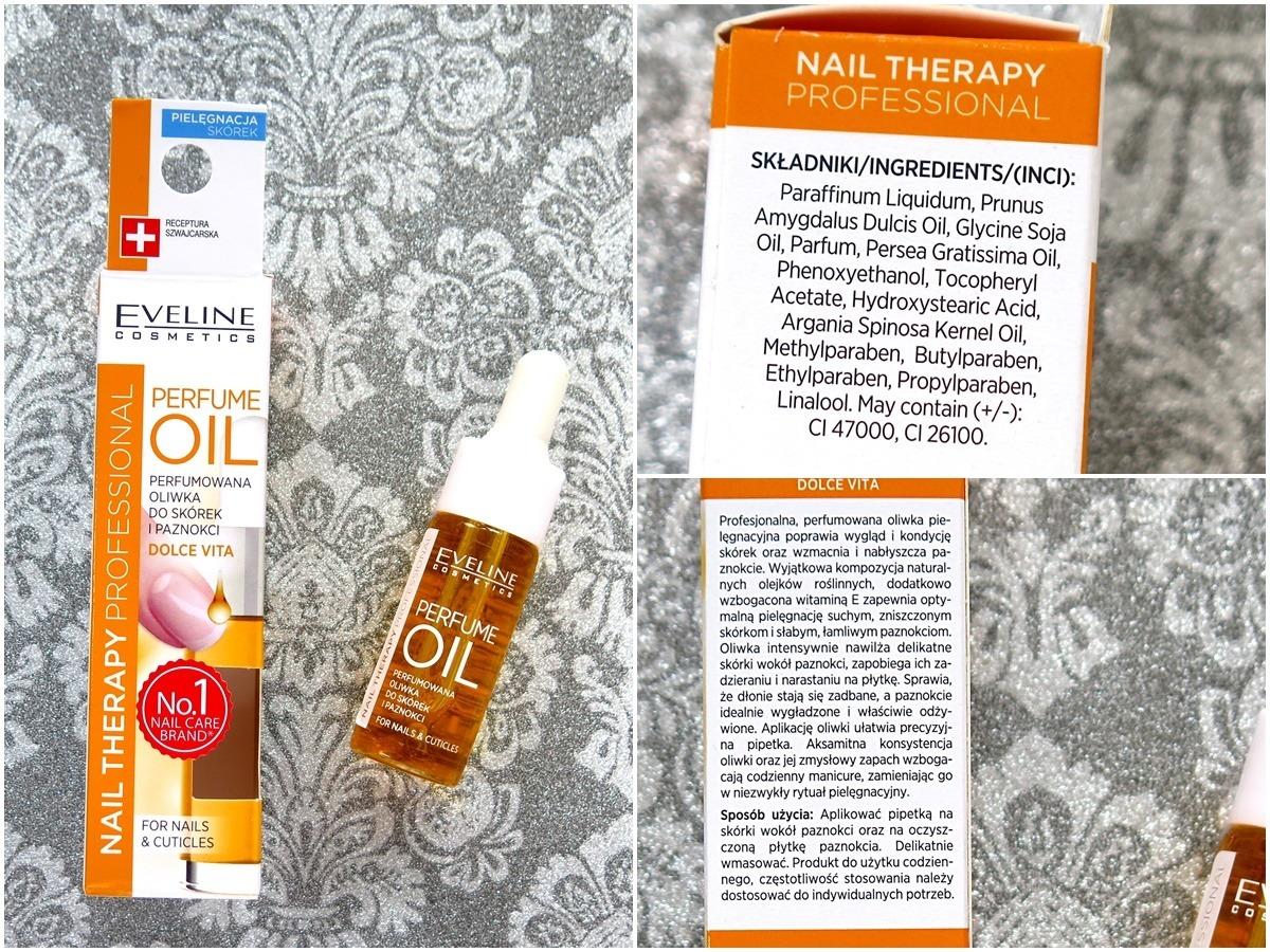 oliwka do skórek eveline perfume oil opinie recenzja skład inci składniki