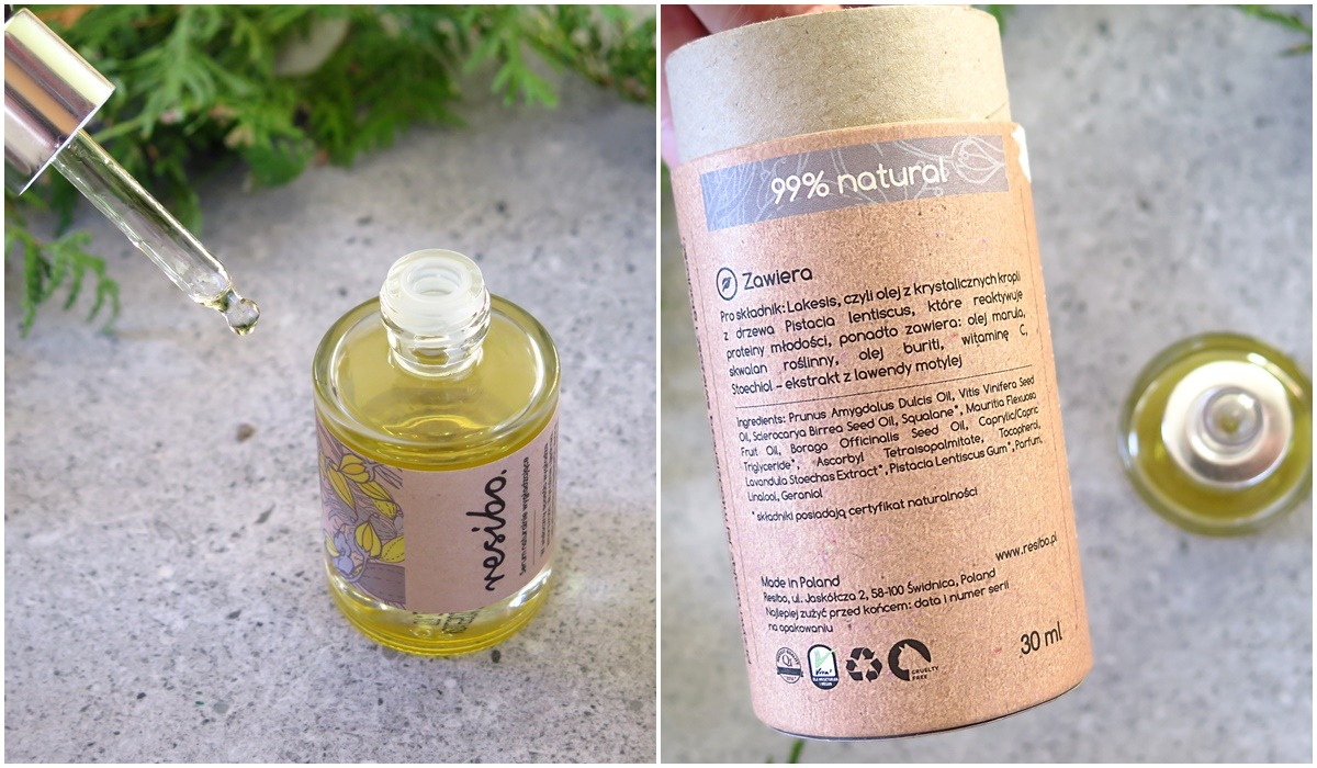 resibo serum olejowe pipetka skład inci
