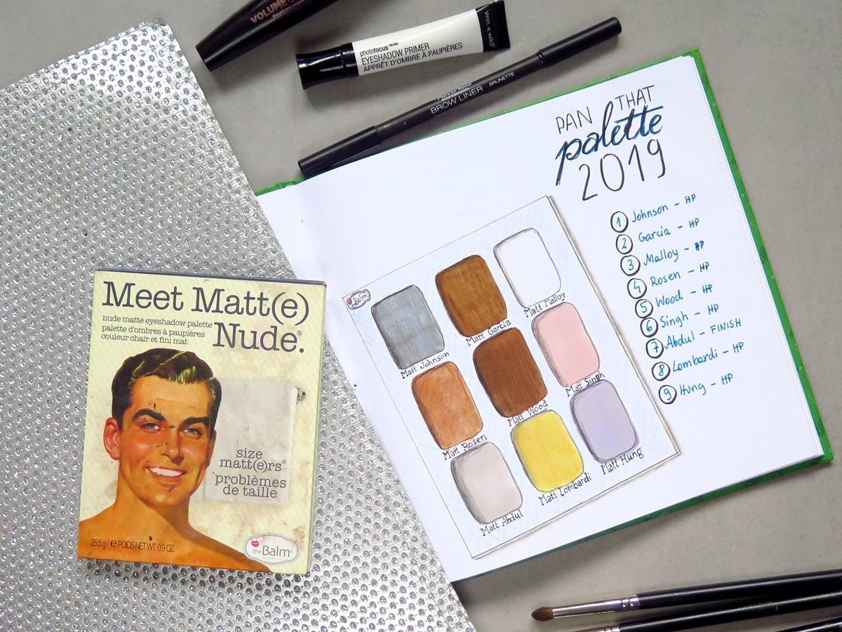 szkicownik rysunki kosmetyków do makijażu pan that palette